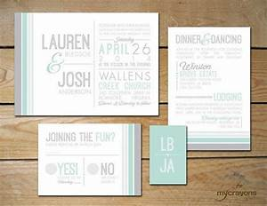 modern wedding invitation printable grey and mint With wedding invitations printing auckland