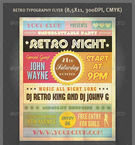 awesome typography flyer psd templates bashooka