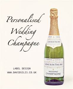 personalised wedding champagne labels professional With champagne bottle labels for weddings