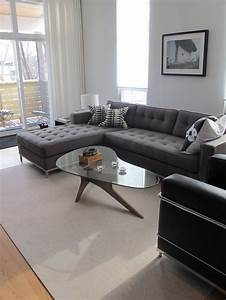 Decorating Ideas For A Modern Grey Sectional In Living ...
