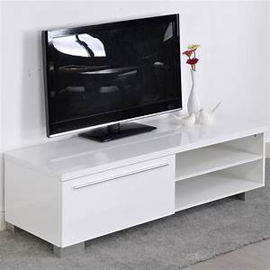 Table Tv But : aingoo modern tv stand white living room furniture modern stand table is perfect for ny kind of ~ Teatrodelosmanantiales.com Idées de Décoration