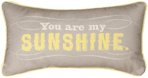 Manual Reversible Throw Pillow, You Are My Sunshine, 17 X