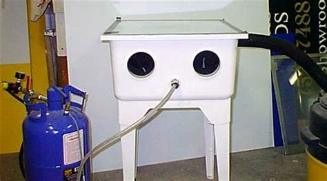 diy blast cabinet kit blasting cabinet plans images