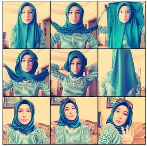 tutorial jilbab segi empat casual turkish style step by step style arena