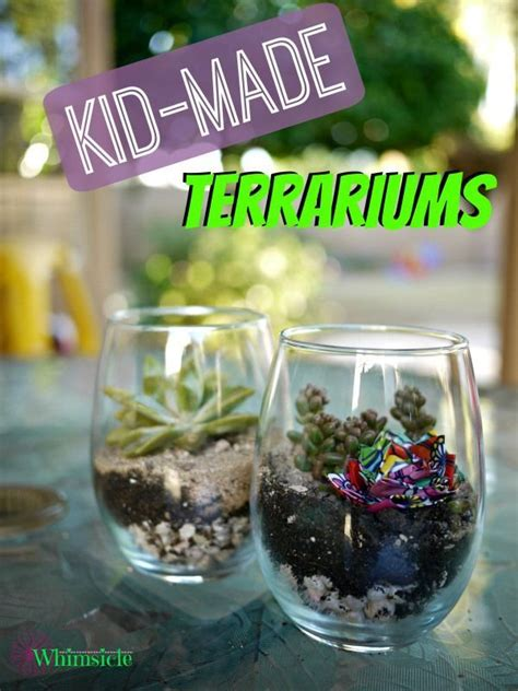 kid  terrariums diy mothers day gifts mothers day
