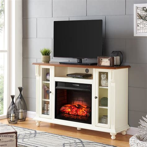 home depot electric fireplace tv stand southern enterprises fossil creek 52 in electric