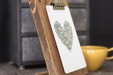 diy wooden clipboard frame  laugh rowe
