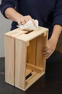 Table De Nuit : faire une table de nuit avec des caisses en bois c t maison ~ Teatrodelosmanantiales.com Idées de Décoration