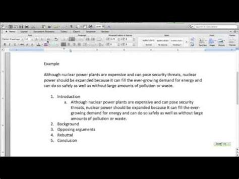 procon essay outlining youtube