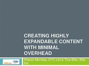 Creating Highly Expandable Content with Minimal Overhead