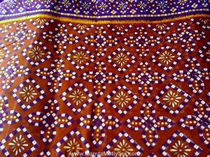 Brown Tie Dye Sari Fabric By The Yard - Unique Fabrics