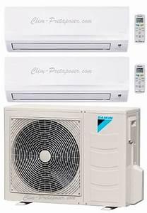 Climatiseur Bi Split : climatisation pas ch re daikin en bi split 2 sorties ~ Dallasstarsshop.com Idées de Décoration