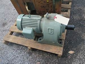 Skk Type Af 3hp Gear Motor Speed Reducer 1 25 73 Ratio 68 Rpm Out 60hz