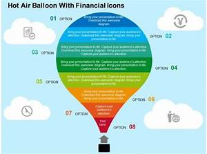 Hot Air Balloon With Financial Icons Flat Powerpoint Design