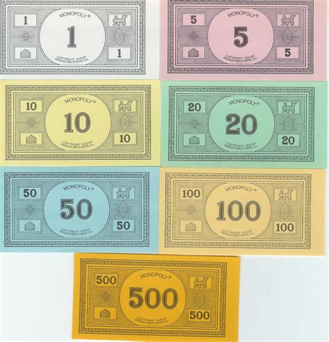 monopoly money printable replacement monopoly money or go here for classic monopoly http www zieak com