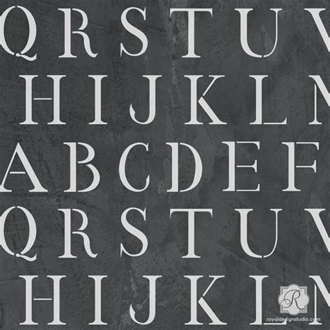 monogram craft stencils diy stenciled letters typography