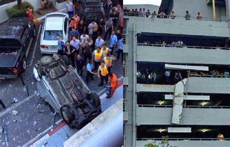 อุบัติเหตุรถตกจากลานจอดรถ ห้างเดอะมอลล์บางกะปิ ~ BlogNune
