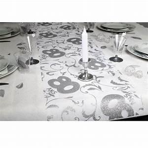 Chemin De Table Anniversaire : chemin de table anniversaire 80ans x1 ref cht10 ~ Melissatoandfro.com Idées de Décoration