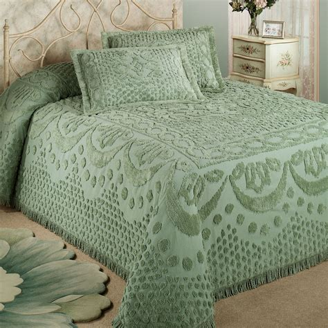 Colorful Coverlets by Kingston Solid Color Chenille Bedspreads