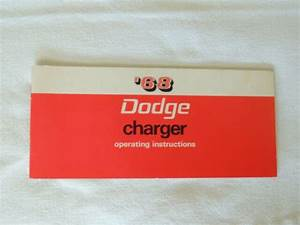 1968 Dodge Charger Original Owner Operating Instructions