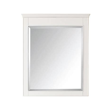Bathroom Mirrors White Frame by Avanity 30 In White Rectangular Bathroom Mirror At