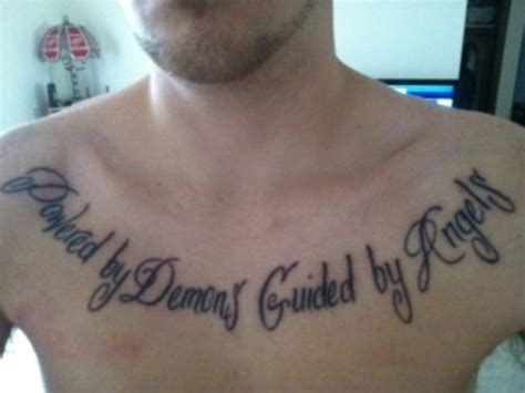 angels  demons tattoos chest