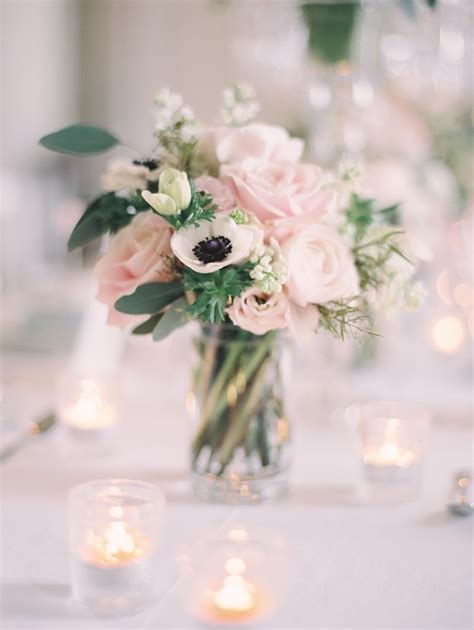 table centrepieces ideas reception décor photos pink white floral arrangement