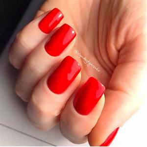 20 Vibrant Red Acrylic Nail Designs - Highpe