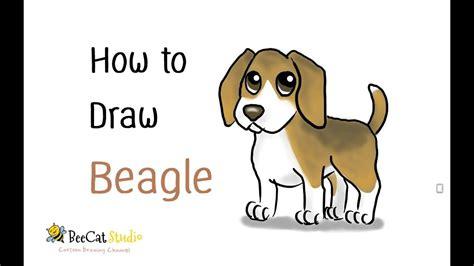 draw  cute cartoon beagle cartoon dog draw