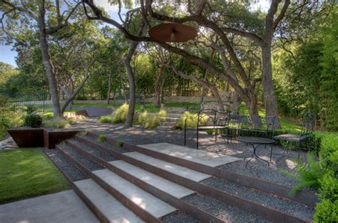 inspirasi desain tangga  taman modern rancangan