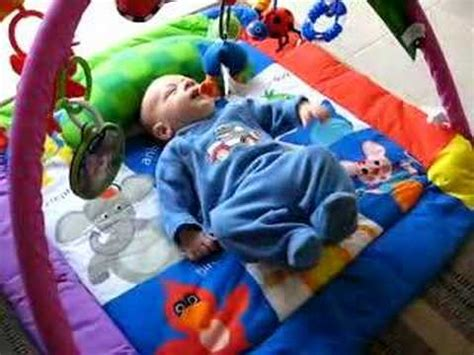 Newborn Baby Plays On His Play Mat  Youtube