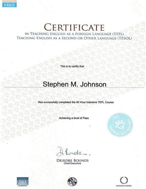 Tefl Certificate Template by Pin Tefl Certificate On