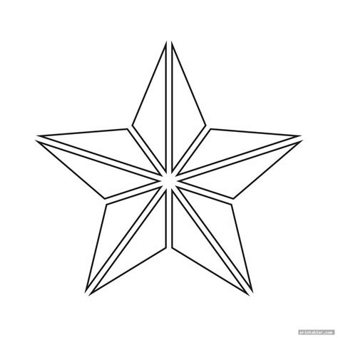 printable cut  star shape printablercom