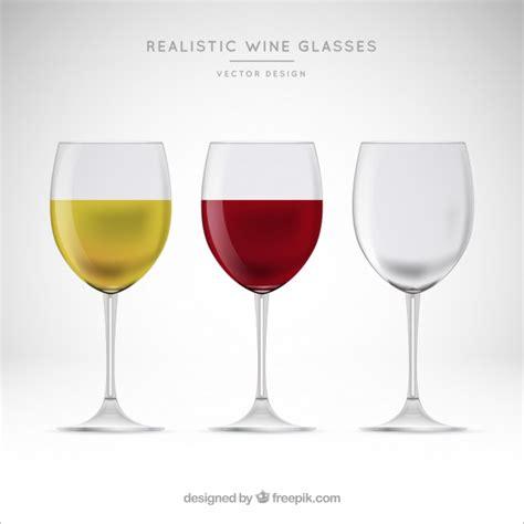 bicchieri da collezione collezione di bicchieri da in stile realistico