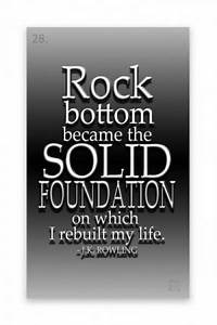 Quotes As A Roc... Rock Foundation Quotes