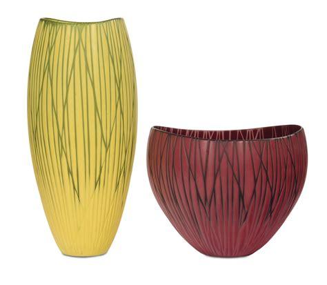 vasi venini lotto di due vasi venini in vetro arts from refined