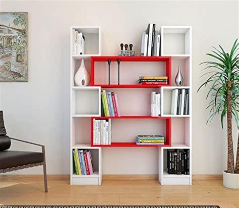 scaffale libri libreria bianco rosso scaffale per libri
