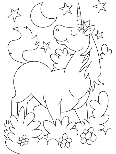 cartoon unicorn coloring pages   cartoon
