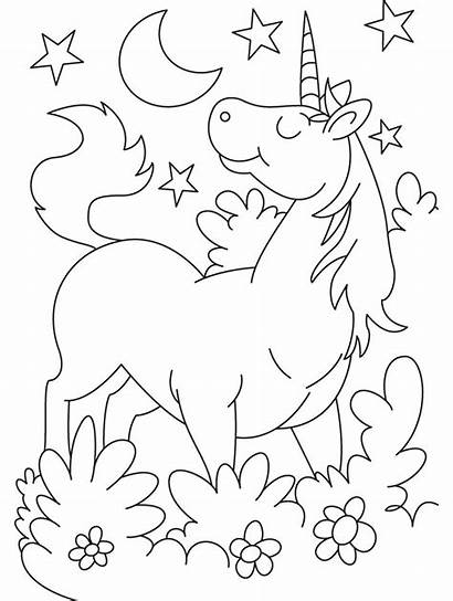 Unicorn Coloring Pages Cartoon Printable Colouring