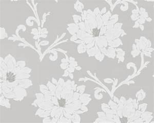 Tapete Muster Grau : tapete flock iii floral grau tapete flock iii ~ Michelbontemps.com Haus und Dekorationen