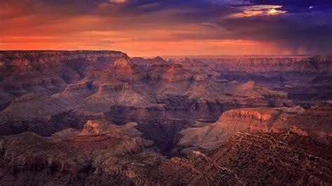 night falls   grand canyon  wqhd