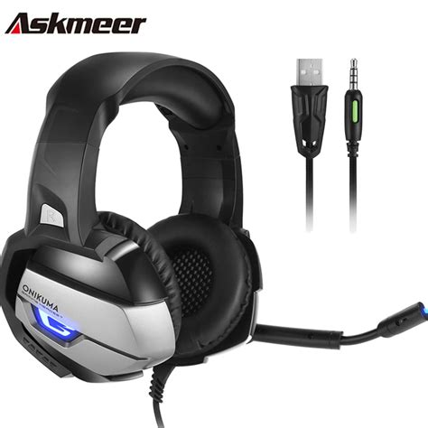 best headset with mic askmeer ps4 stereo gaming headset with mic best casque
