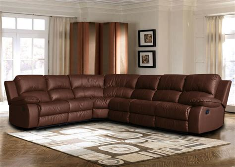 Sofa Or Loveseat by Large Bonded Leather Sectional Sofa With Reclining End
