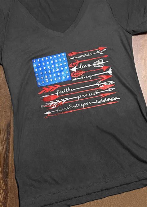 american flag hope faith arrow  shirt fairyseason