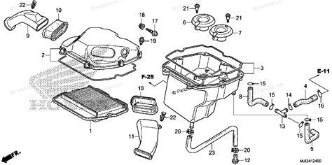 Honda Motorcycle Oem Parts Diagram For Air Cleaner