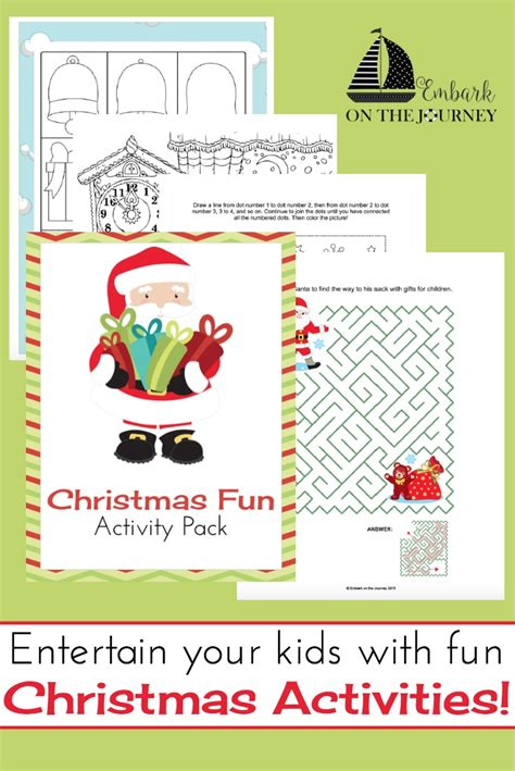 Christmas Activity Pack For Kids Of All Ages