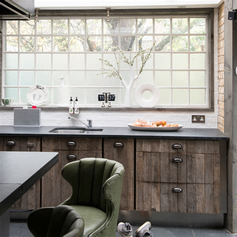 Reclaimed Wood Kitchen  Kitchen Decorating Ideas  Ideal Home