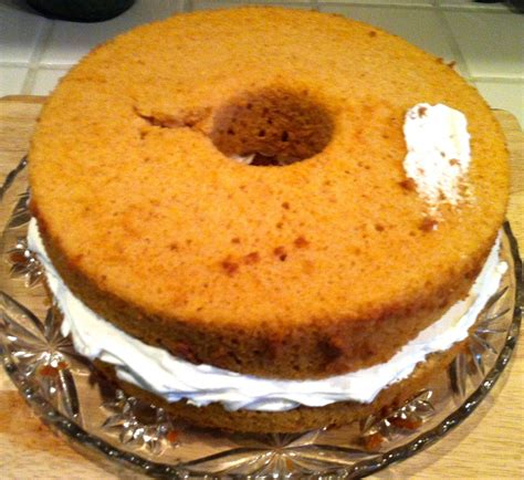 wildwss pumpkin angel food cake wcreamy ginger filling