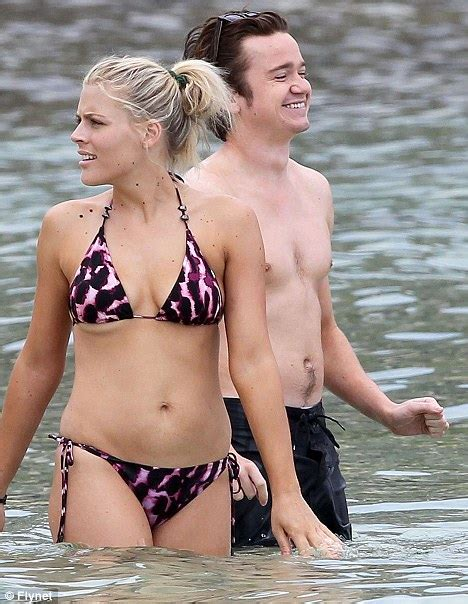 taron egerton swimsuit busy phillips shows off her womanly curves as she films