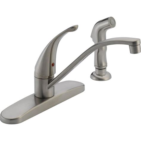 peerless choice single handle standard kitchen faucet with